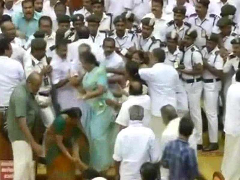 Video : Free-For-All in Kerala Assembly: Minister Delivers Budget Speech as Chair, Mics Thrown