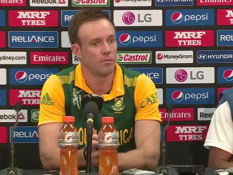 Video : World Cup: AB de Villiers Slams Critics, Shrugs off 'Chokers' Tag