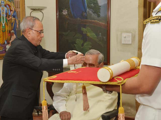 Video : Former PM Vajpayee Receives Bharat Ratna, India's Highest Civilian Honour