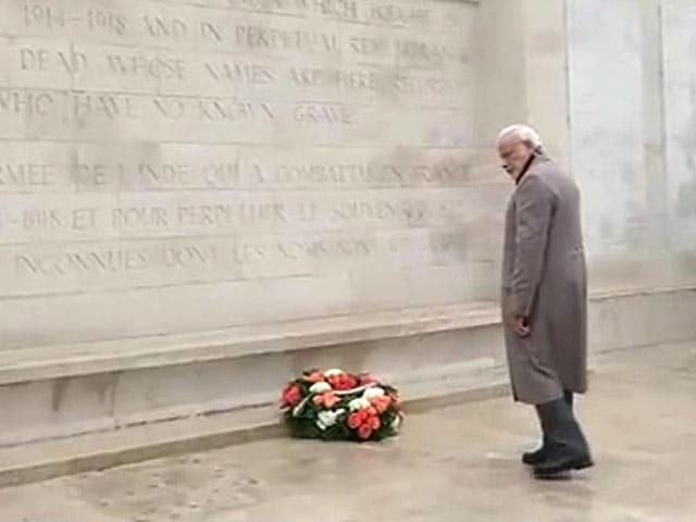 Video : PM Modi Visits Memorial for Indian World War I Soldiers on Day 2 of His Visit to France