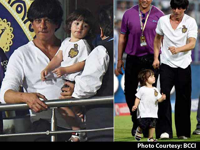 AbRam Has Learnt to Say KKR: Shah Rukh Khan
