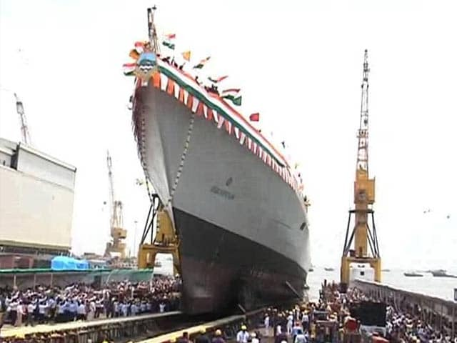 Video : INS Visakhapatnam, India's Most Powerful, Lethal Destroyer Launched in Mazgaon Dock