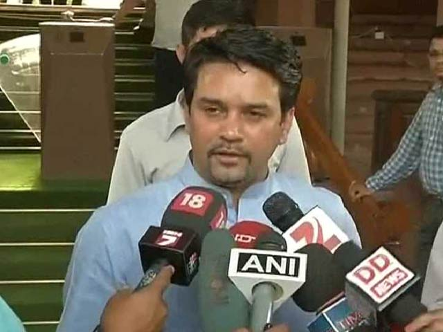 Video : BCCI Secretary Anurag Thakur Says Bookie Allegations are Baseless