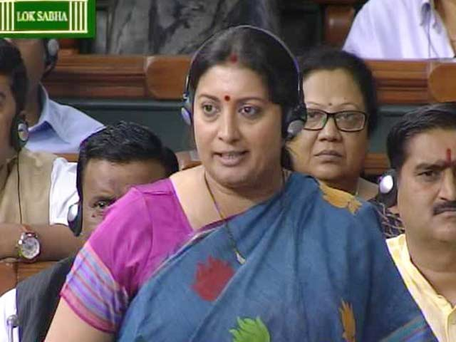 Video : Minister Smriti Irani's Fiery Speech in Parliament is Talk of the Town