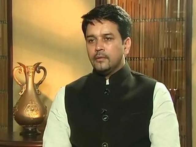 Video : N. Srinivasan's Letter on my Bookie Link Unfortunate: Anurag Thakur