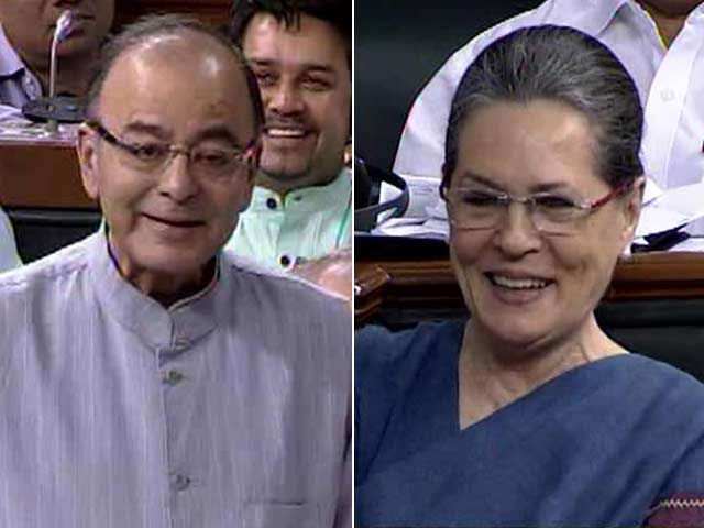 Video : Am Still Smiling: Sonia Gandhi and Arun Jaitley's Banter in Parliament