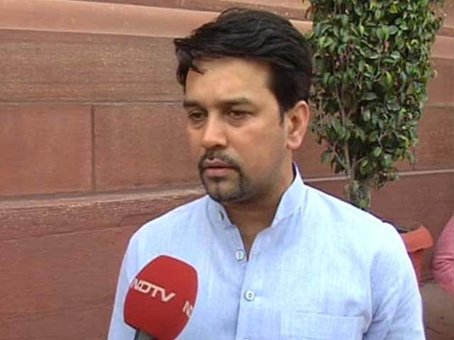 Video : India May Host Pakistan at Home, Says BCCI Secretary Anurag Thakur