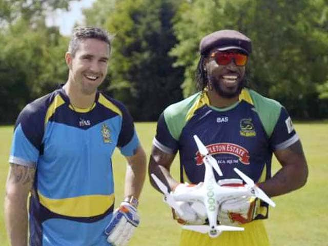 Chris Gayle vs Kevin Pietersen: Who can Smash a Drone?