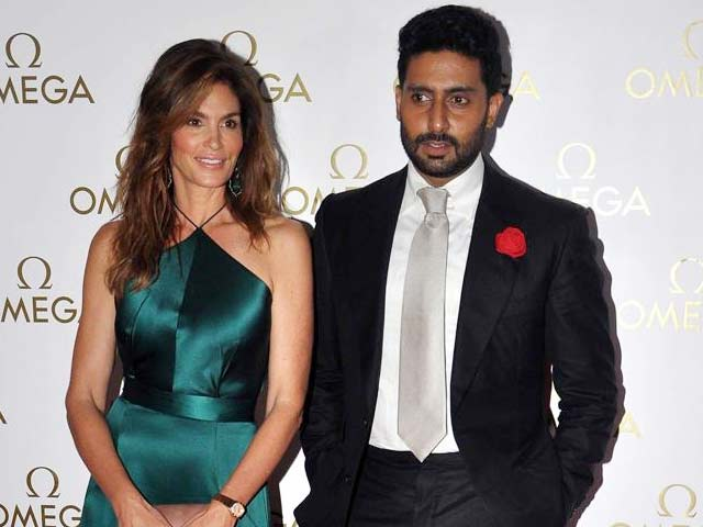 Abhishek's 'Omega' Date With Cindy Crawford