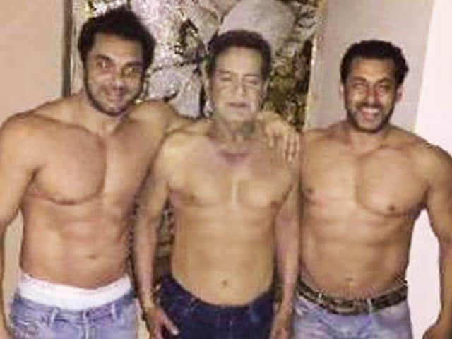 Salman Khan Pays 'Shirtless' Tribute On Father's Day