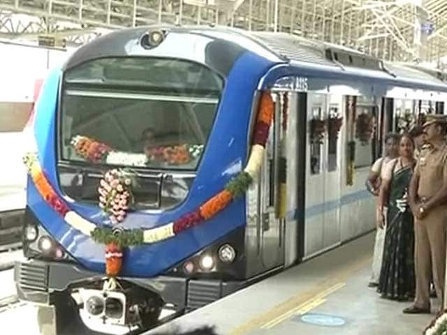 Video : By Video Conference, Jayalalithaa Launches 10 kms of Chennai Metro