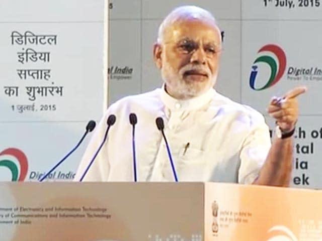 Video : 'M-Governance (Mobile, Not Modi),' Quips PM at Digital India Push