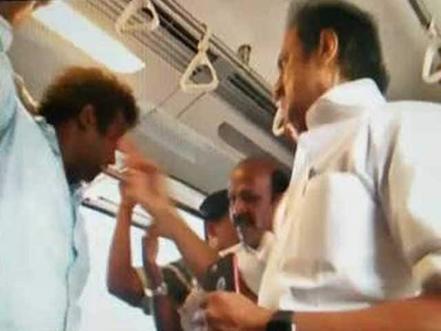 Video : The Joyride That Wasn't. Video Shows DMK's Stalin Slapping Metro Passenger