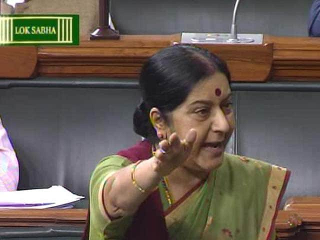 Video : Allow Me to Speak, Says Sushma Swaraj Amid Lalitgate Chaos in Parliament