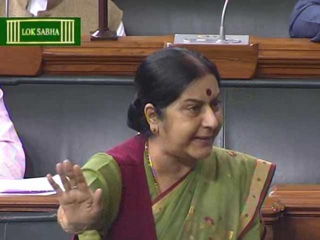 Video : Since You Enjoy Holidaying... Sushma Swaraj's Jibe at Rahul Gandhi