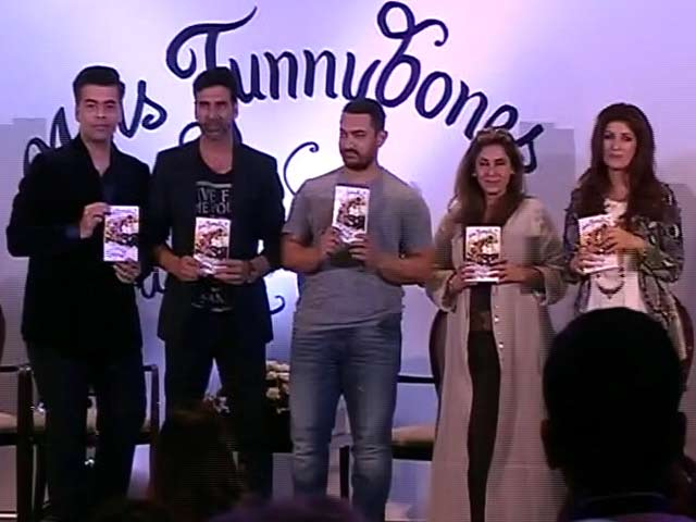 Video : Twinkle Khanna Launches First Book With Help From Aamir, Akshay