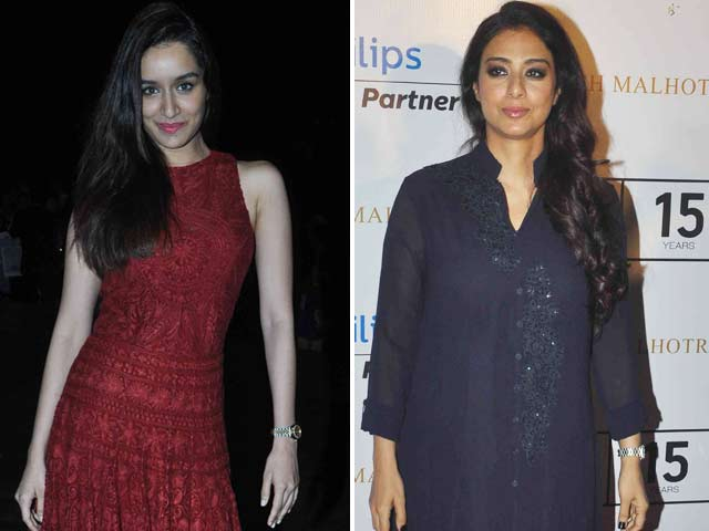 Shraddha, Tabu Cheer For Manish Malhotra