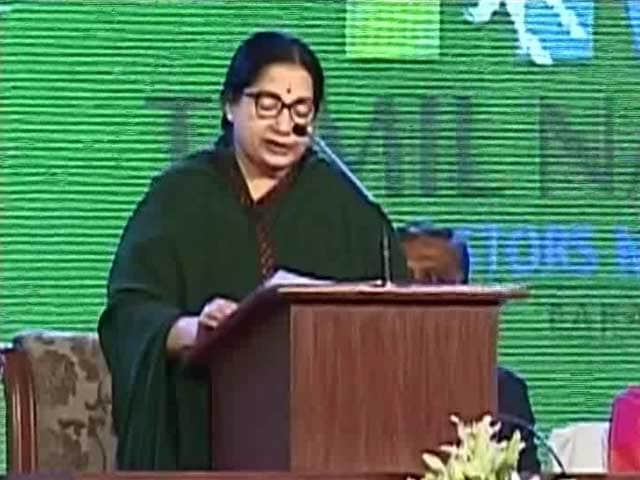 Video : At Chennai Fair, Jayalalithaa Claims Investment Worth Rs. 1 Lakh Crore