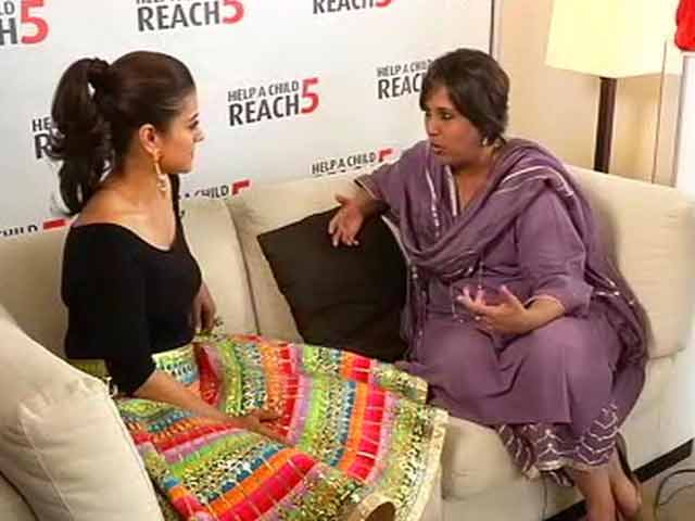 Video : Kajol For A Cause: 'Help A Child Reach 5'