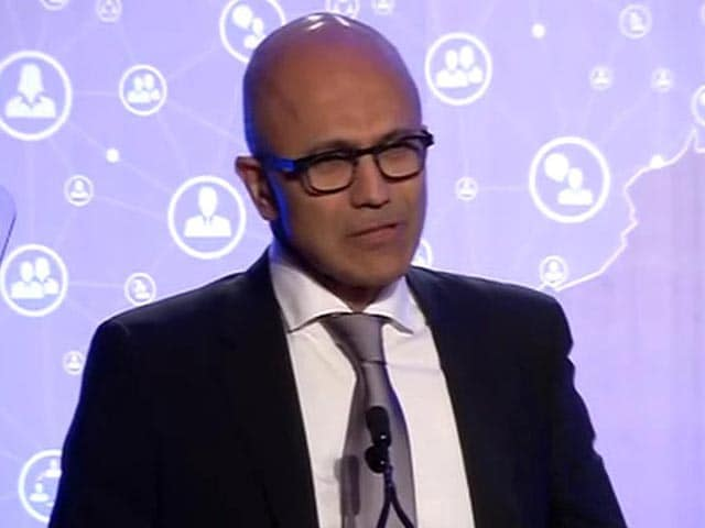 Video : Satya Nadella Shares with PM Modi A 'Haunting Image' From Childhood