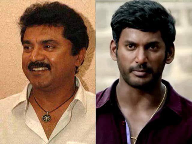 Actors Sarath Kumar, Vishal Lock Horns