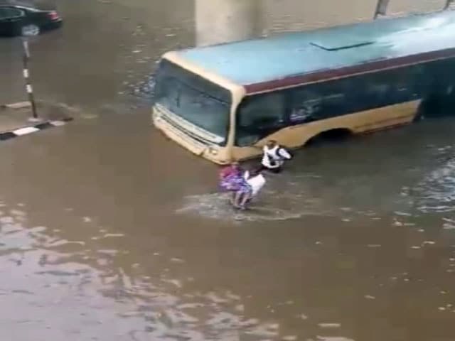 Video : Chennai Hero Rescues Elderly Woman in Flooded Subway in Video Gone Viral