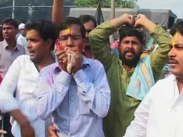 Video : Early Celebrations Outside BJP Office in Patna