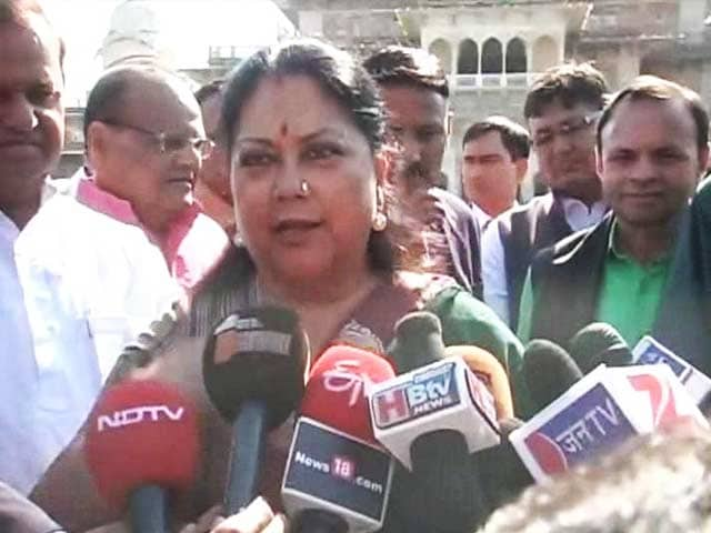 Video : With Resurgent Rajasthan, Vasundhara Raje Reaches Out For Investment