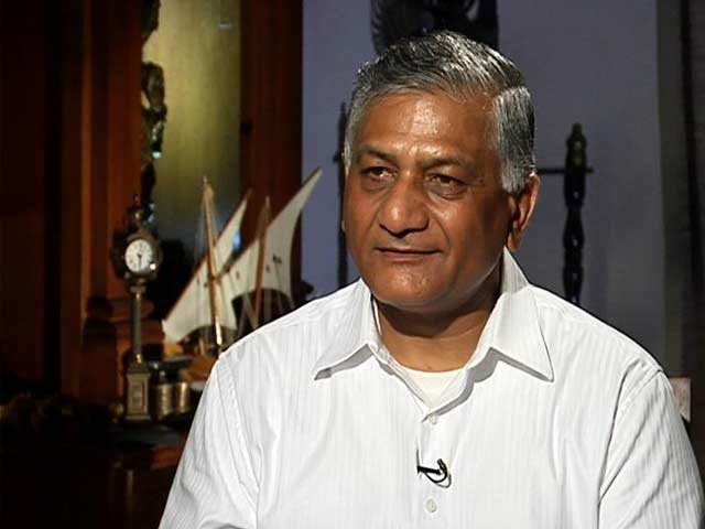 Video : Opposition Demands Action Against VK Singh Over 'Dog Remark'