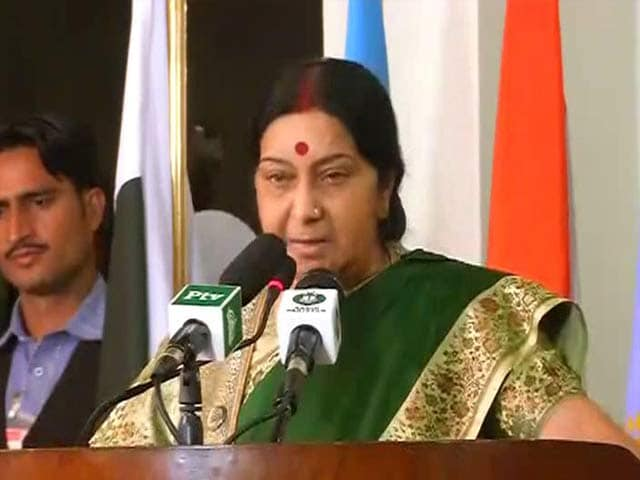Video : India, Pakistan To Resume Dialogue, Says Sushma Swaraj in Islamabad