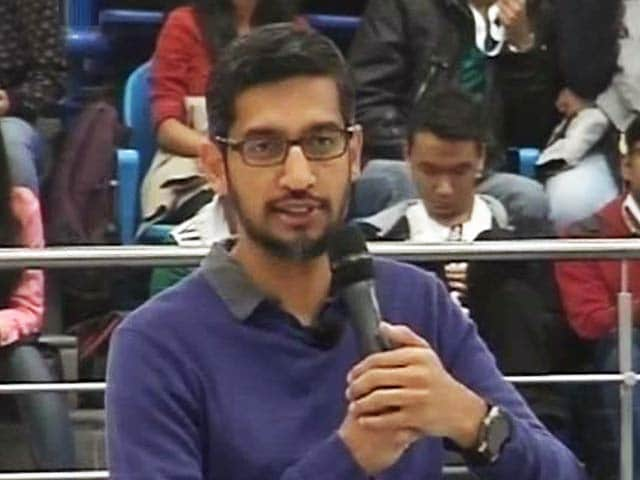 Video : Google CEO Sundar Pichai at Delhi University