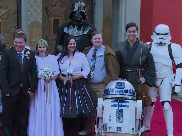 'Star Wars Wedding' For Two Fans in Los Angeles