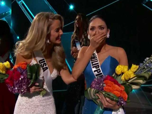 Video : Miss Philippines Crowned Miss Universe After Live TV Mixup