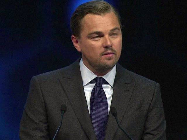 Video : Leonardo DiCaprio Urges Davos Leaders to Help Protect Climate