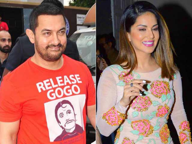 Aamir Khan Says 'Will Be Happy' to Work With Sunny Leone