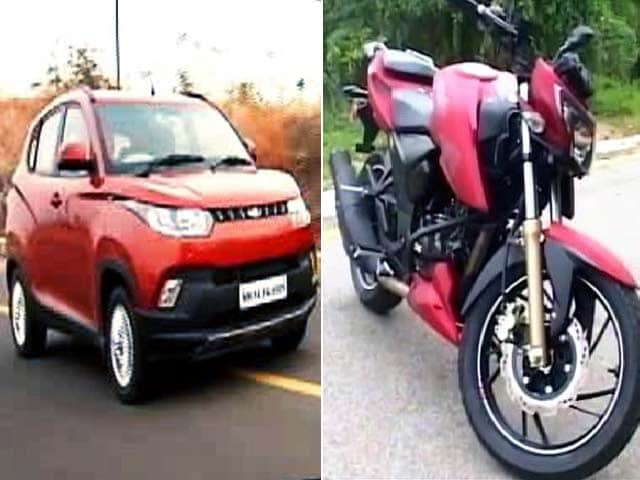 Video : TVS' New Bikes, KUV100 Lunch, Mercedes GLE 450 AMG & Mahindra XUV500 AT