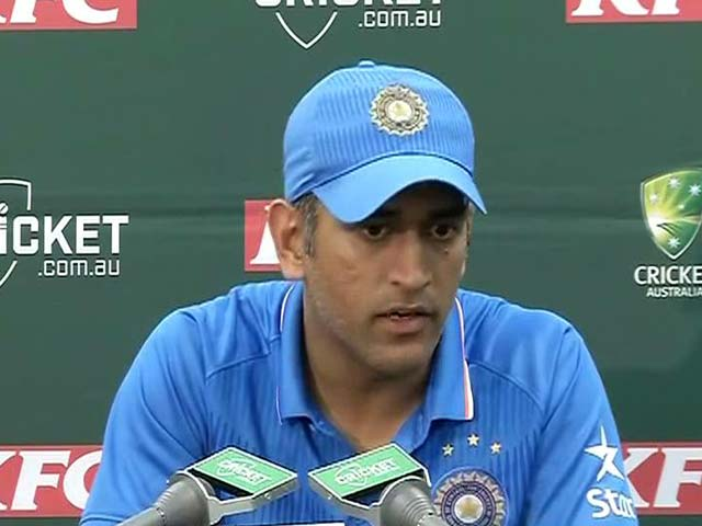 Video : Extra Credit to Bowlers For Australia Series Sweep: MS Dhoni
