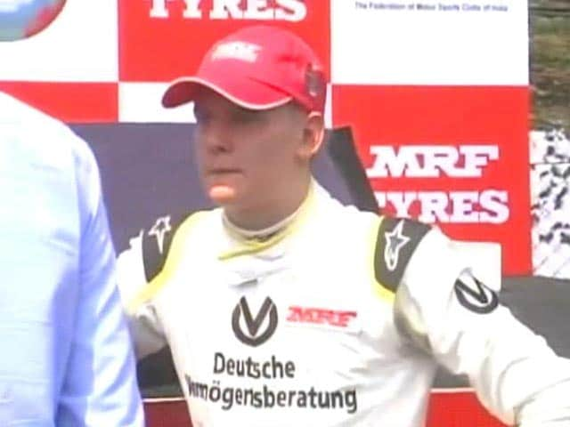 Video : Michael Schumacher's Son Sparkles in India