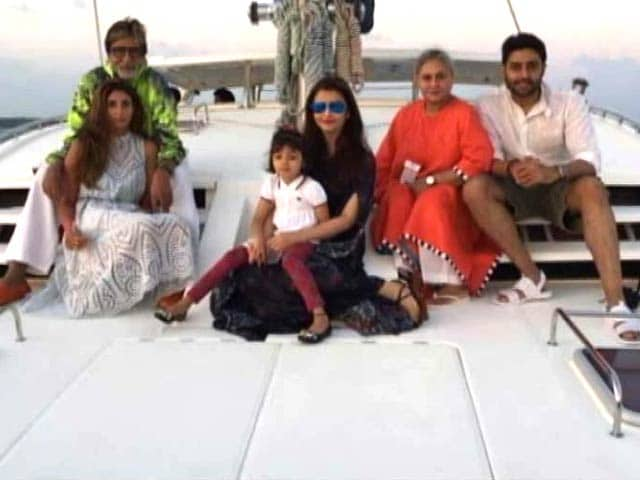 Bachchans' Ring in Junior B's Birthday in Maldives