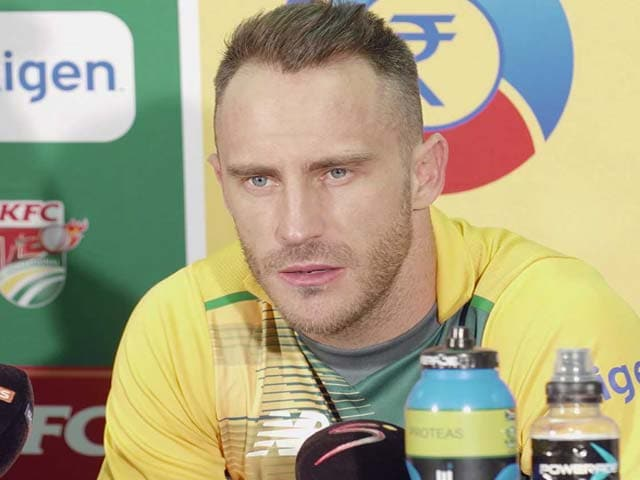 Video : Faf du Plessis Happy With Death Bowling Ahead of World Twenty20