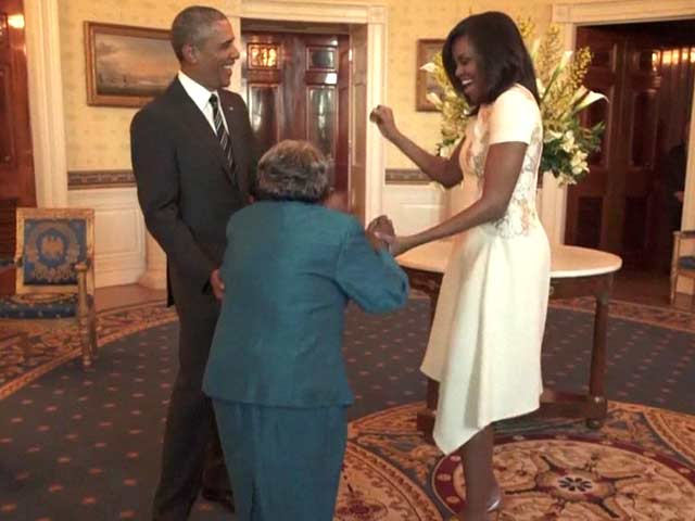 Video : Dream Come True: Woman, 106, Dances With Obamas