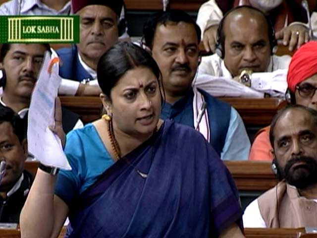Video : 'My Name Is Smriti Irani', Says Minister in Emotional Speech in Parliament