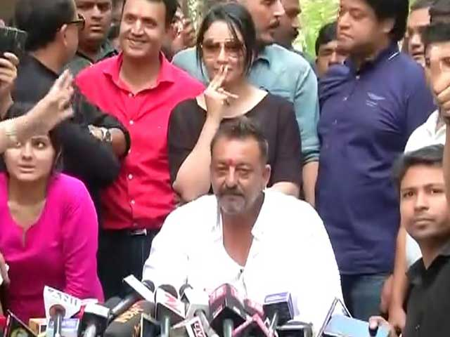 Video : 'Day Of Freedom For Me After 23 Years,' Says Sanjay Dutt