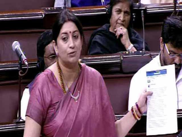 Video : Smriti Irani Quotes From Rohith Vemula's Facebook Post In Rajya Sabha