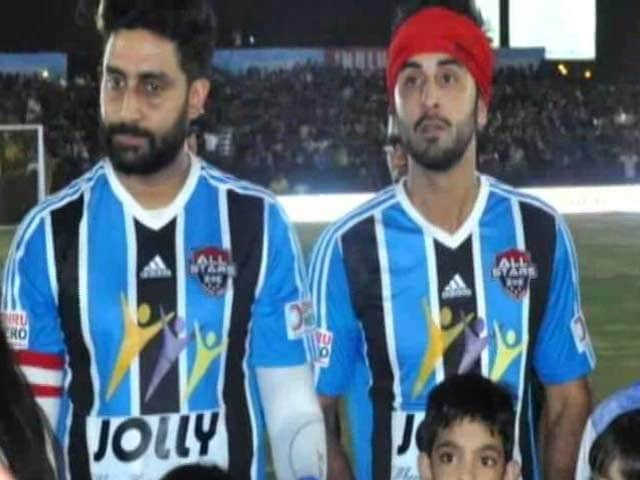 Ranbir, Junior B Set for Football Match With MPs