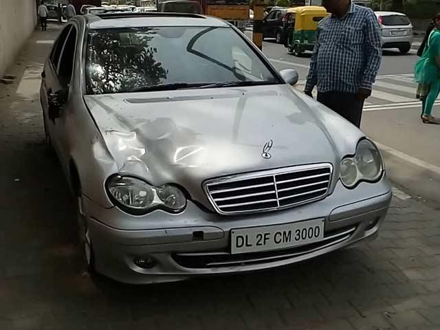 Video : Delhi Man Killed By Speeding Mercedes, Flung 15 Feet In Air