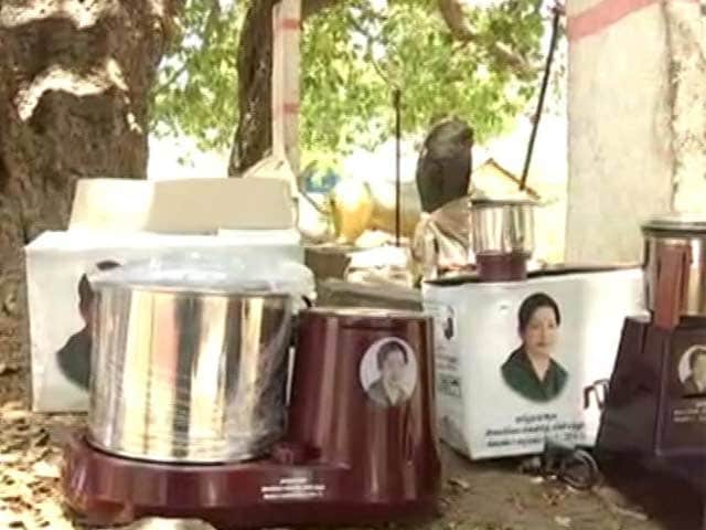 Video : Almost Every Jayalalithaa Freebie, Including A Goat, Under One Tree