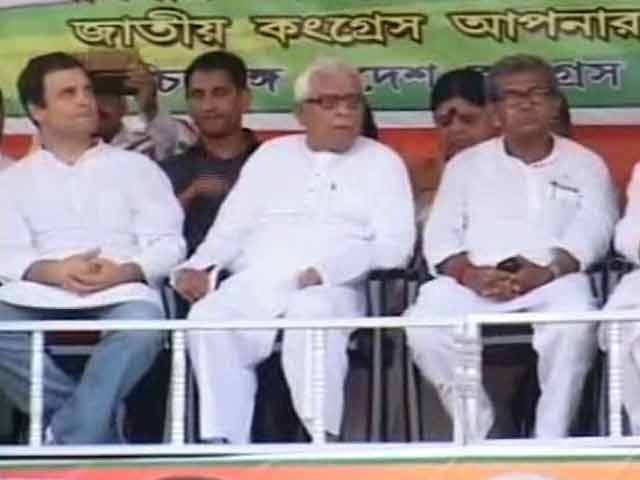 Video : Rahul Gandhi At His Side, Buddhadeb Says 'Can't Defeat TMC On Our Own'