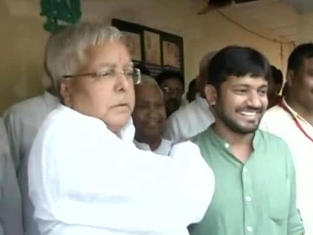 On His Homecoming Visit, Kanhaiya Kumar Meets Lalu Prasad