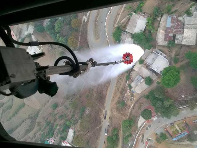 Video : Choppers Out To Douse Uttarakhand Forest Fires Return Due To Poor Visibility